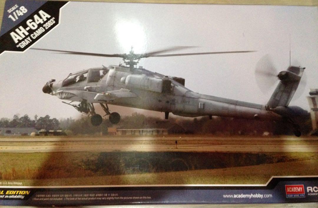 1/48 AH-64A Apache Grey Camo 2003