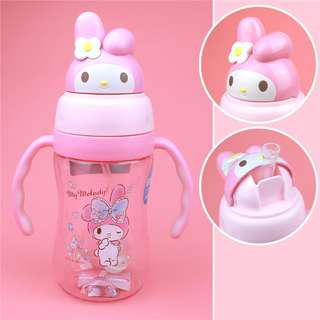 My Melody Kids Water Bottle Learning Cup With Straw BPA-Free 350ml