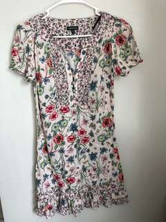 Warehouse Printed Floral Dress