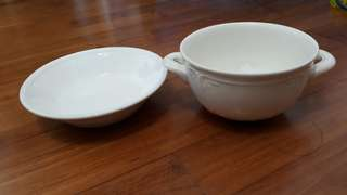 PL VILLEROY & BOCH SOUP BOWL AND PLATE