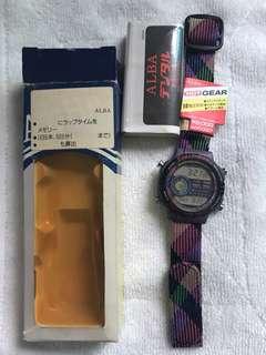 NOS 90s Alba digital Men's Watch W802