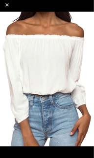 Brandy Melville off the shoulder long sleeve