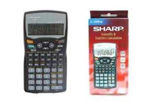 Sharp Calculator EL-509WS-BK