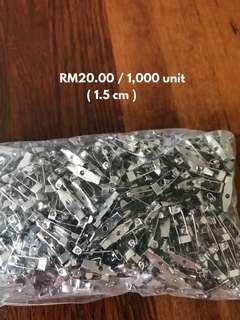 🔴 BAR PINS • 1.5 cm • RM20.00/1,000 units