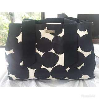 KATE SPADE  Splodge Dot Medium Seraphine  Tote Bag in Black/Cream