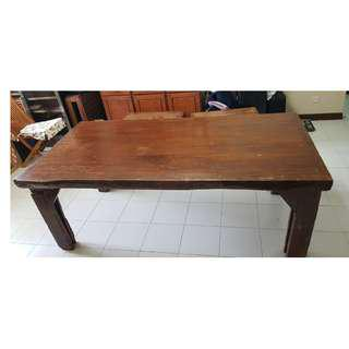 Vintage Natural Solid Wood Dining Table