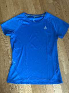 Adidas Climalite shirt blue