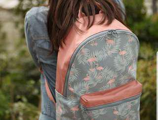 flamingo nylon bagpack & sling