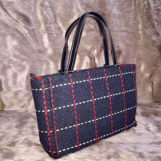 Authentic Kate Spade Plaid Tweed & Suede Tote