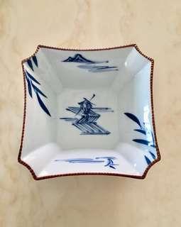 Japanese porcelain square bowl