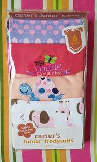 Carter's baby girl junior body suit 5 pack (0-6mth)