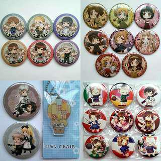 Hetalia Button Badges & Charm #MidSep50