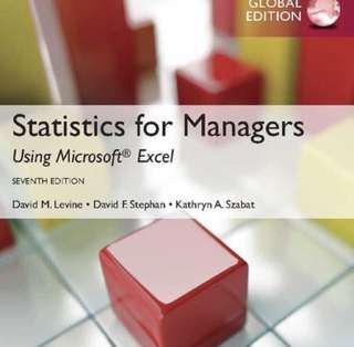 Statistic textbook (SMU)