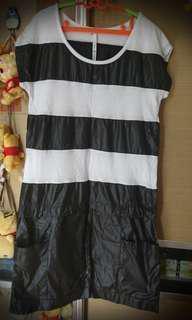 黑白連身裙 99% new