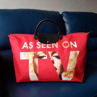 Authentic LONGCHAMP Jeremy Scott 'As Seen on TV' Large Travel Bag