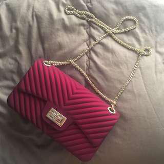 Jelly Maroon Bag