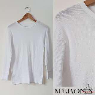 Merona White Long Sleeves Top