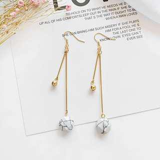 Marble dangling earring