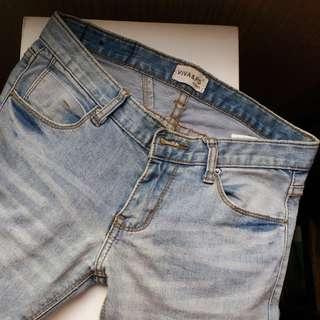 Viva & Ps skinny jeans 低腰緊身修腳牛仔褲