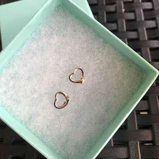 Authentic TIFFANY & CO. Elsa Perreti open heart earrings