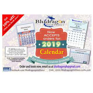 2019 Calendar Corporate Giveaway