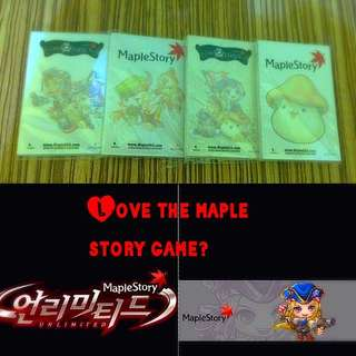 Maple Story notepads