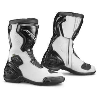 """FALCO OXEGEN RACING BOOT , BLACK / WHITE , SIZE 41"""" , 1 PAIR ONLY - USED"""