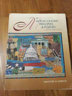 Macroeconomic Principles & Policies 6th edition