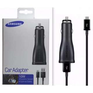 BRAND NEW Samsung Car Adapter 10W Charger USB Micro Cable