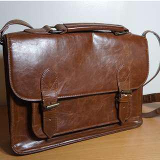 BDG Brown Leather Satchel