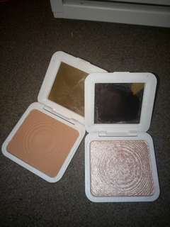 Models own bronzer and highlighter