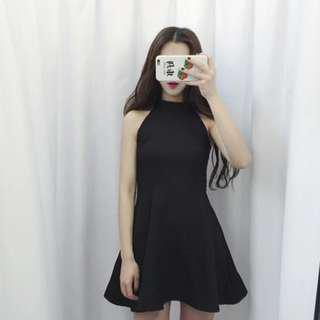 Black Halter Dress #under90