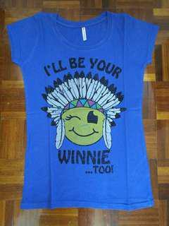 Tshirt (Tribal Emoticon) in Purple / Blue