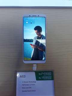 Oppo A83 promo bunga 0% atau 0.99% dengan cicilan tanpa kartu kredit