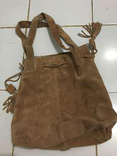 Authentic Promod leather bag