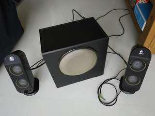 Logitech X-230 32 Watts 2.1 Black Speakers
