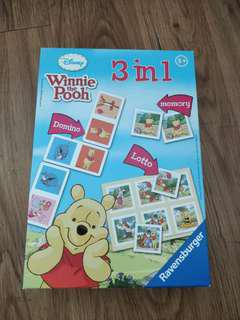 Winnie the Pooh 3 in 1 card game