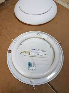 ceiling light casing set, 32 W tube, ballast and starter
