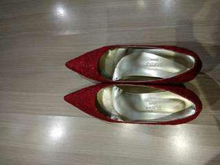 紅色喱士高跟鞋 heels