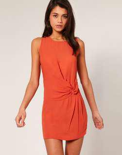 ASOS tie knot shift dress