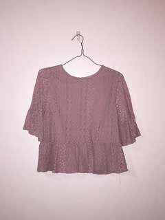 Mauve Bell Sleeve top