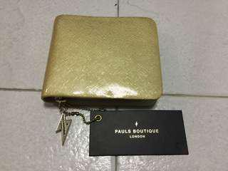 Brand New Gold Pauls Boutique Brand Wallet going cheap