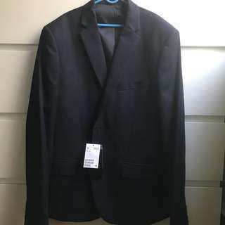 🚚 H&M dark blue blazer outerwear