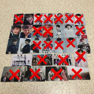 [CLEARANCE SALE] BTS DUPLICATED/REPLICA/UNOFFICIAL PHOTOCARD