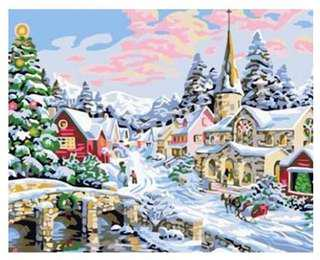 PAINT BY NUMBERS : SNOW WORLD