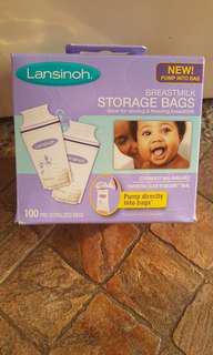 brand new lansinoh Breastmilk Storage Bags 100