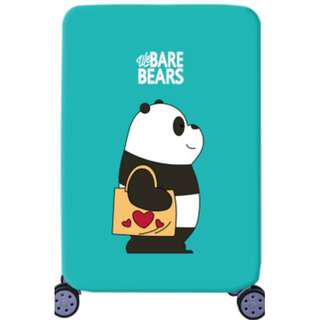 Bare bears green luggage cover