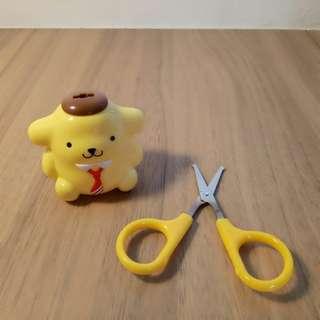 🚚 Pom pom purin scissors (kids / beauty)