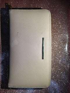 Pink nude wallet Stradivarius