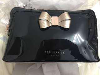 Ted Baker bow wash bag clutch 蝴蝶結 玫瑰金 化妝袋